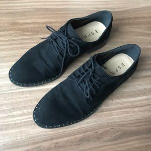 Esprit black lace up brogues 8